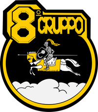 Ensign of the 8º Gruppo of the Italian Air Force.svg